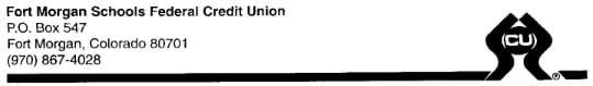 Fort Morgan Schools Federal Credit Union Logo